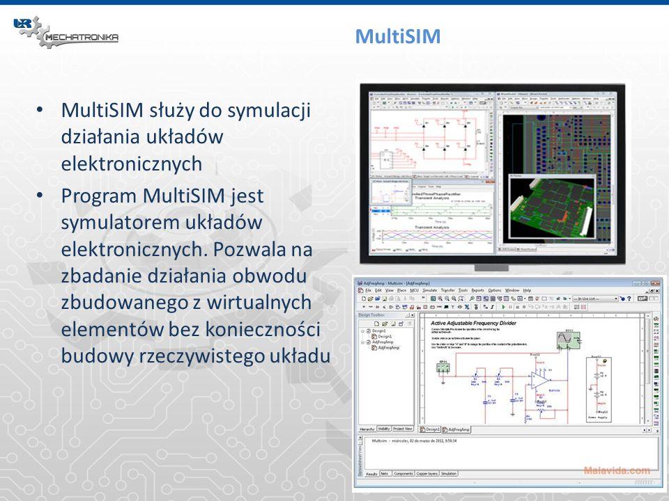 MultiSIM MultiSIM służy do symulacji działania układów elektronicznych.