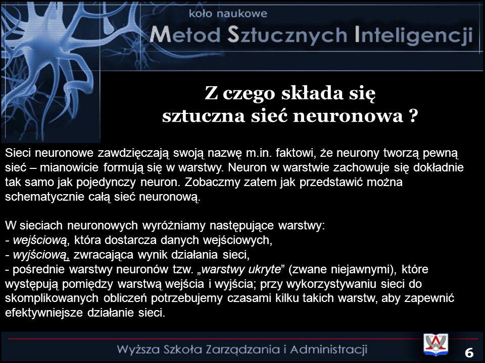 sztuczna sieć neuronowa