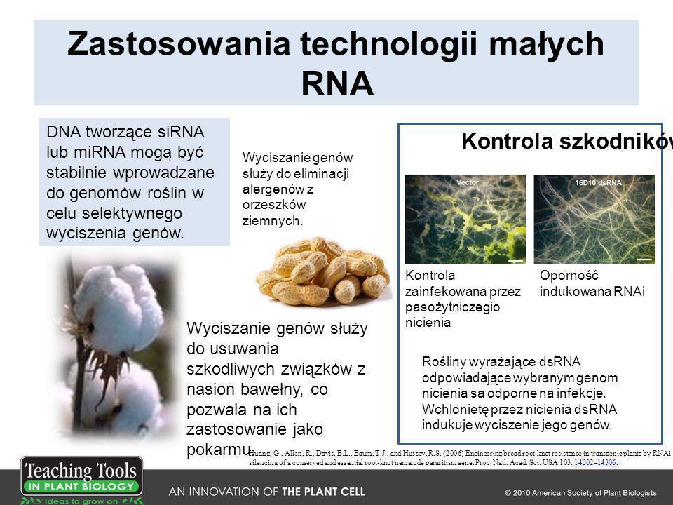 Zastosowania technologii małych RNA