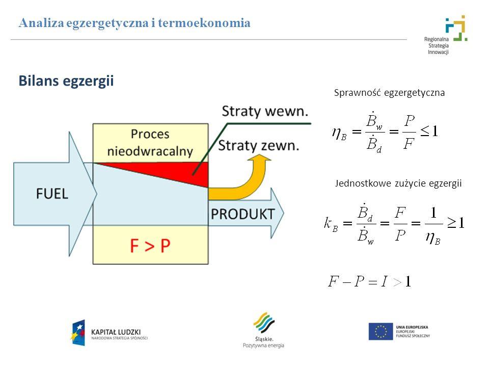 Bilans egzergii Analiza egzergetyczna i termoekonomia