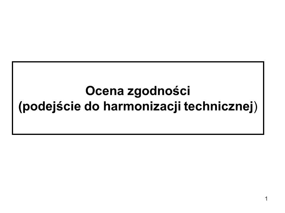 Ocena zgodności (podejście do harmonizacji technicznej)