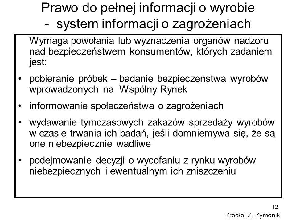 Prawo do pełnej informacji o wyrobie - system informacji o zagrożeniach