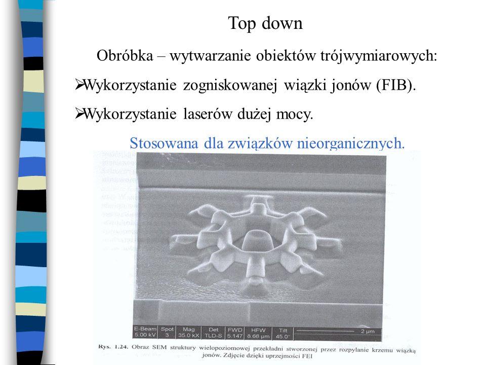 Top down Obróbka – wytwarzanie obiektów trójwymiarowych: