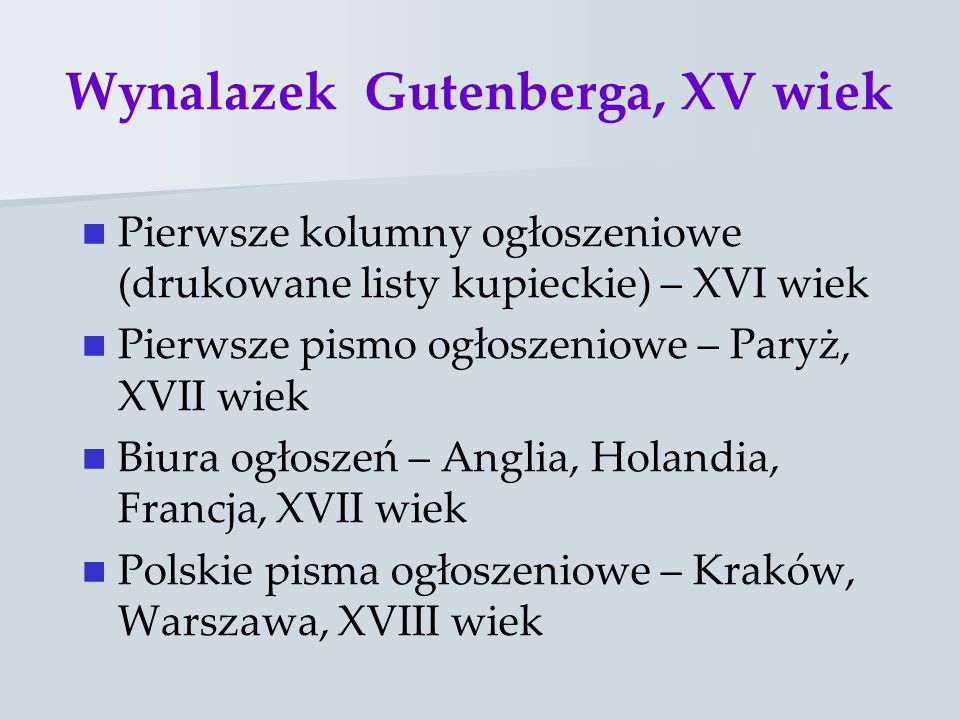 Wynalazek Gutenberga, XV wiek