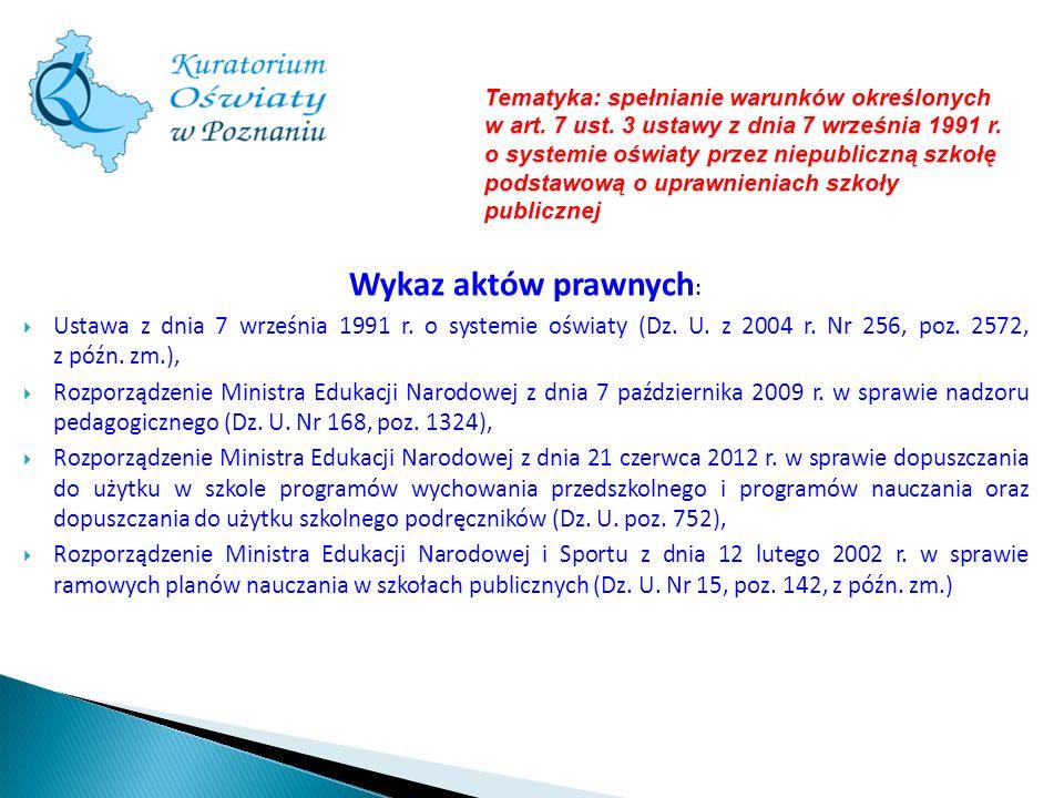 Tematyka: spełnianie warunków określonych w art. 7 ust