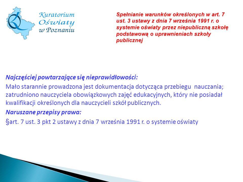 Spełnianie warunków określonych w art. 7 ust