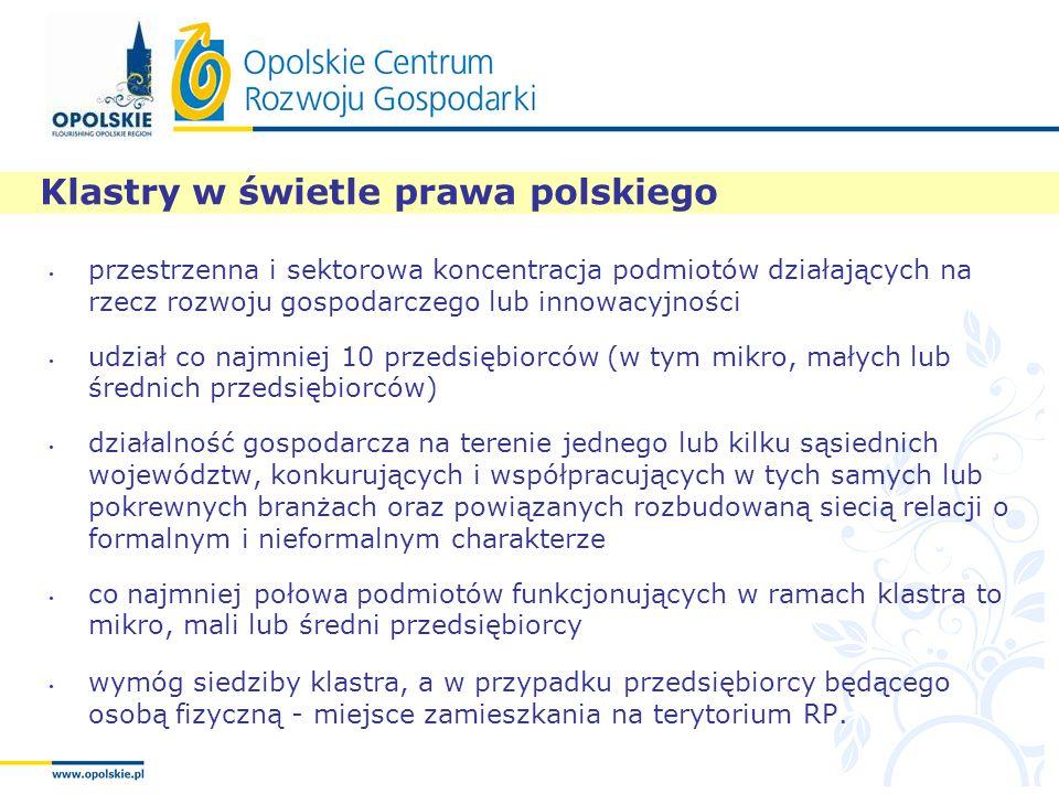 Klastry w świetle prawa polskiego