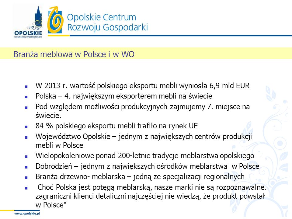 Branża meblowa w Polsce i w WO