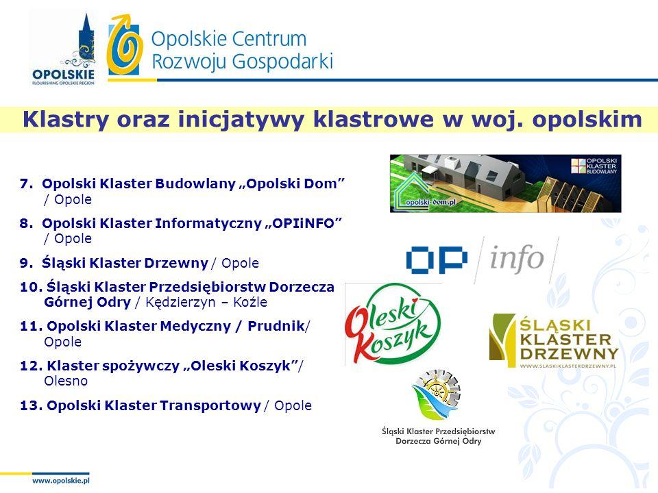 Klastry oraz inicjatywy klastrowe w woj. opolskim