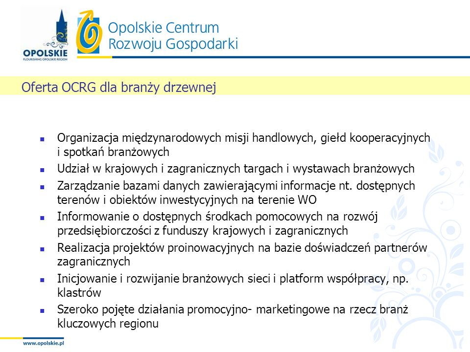 Oferta OCRG dla branży drzewnej