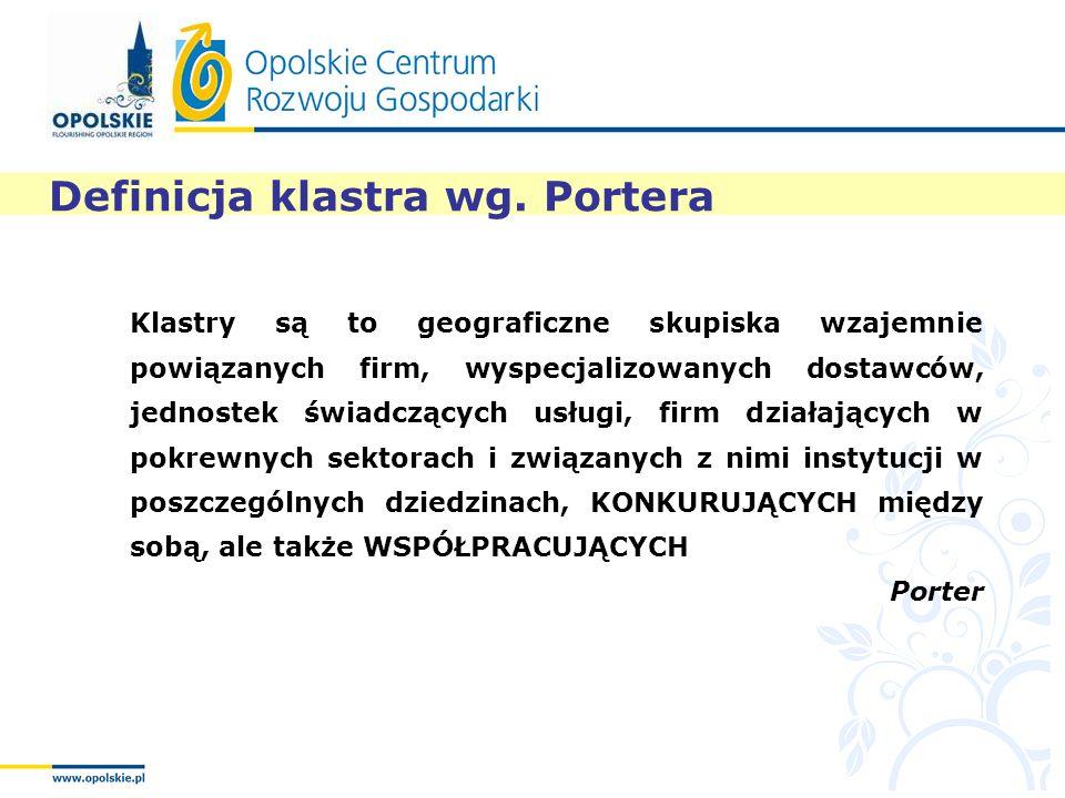 Definicja klastra wg. Portera