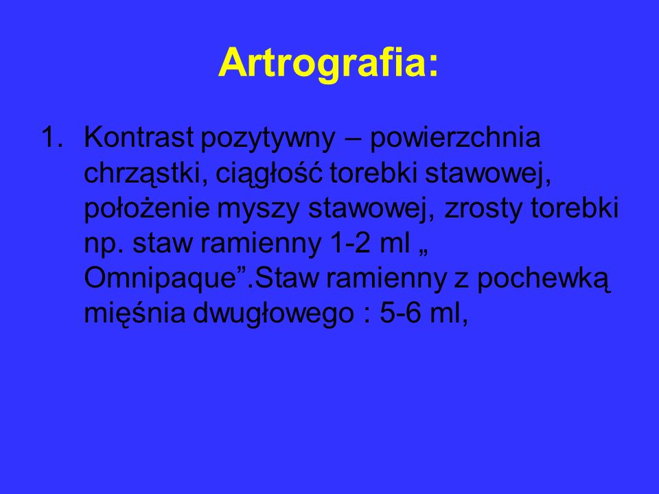 Artrografia: