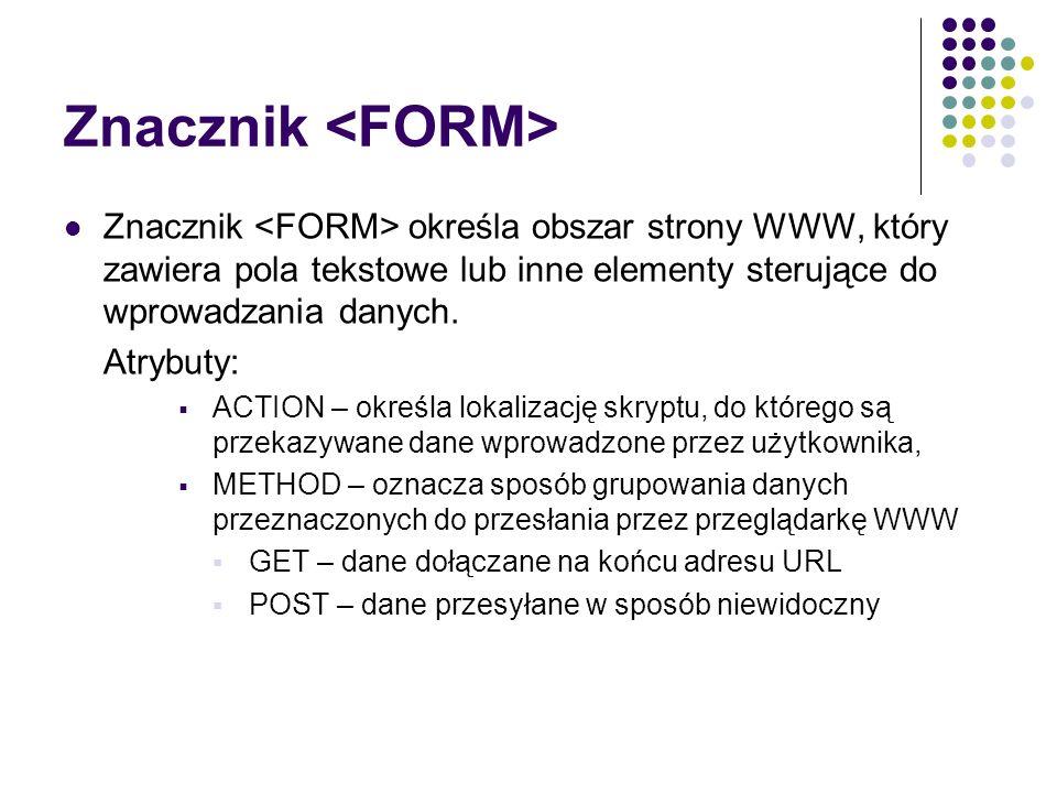 Znacznik <FORM>