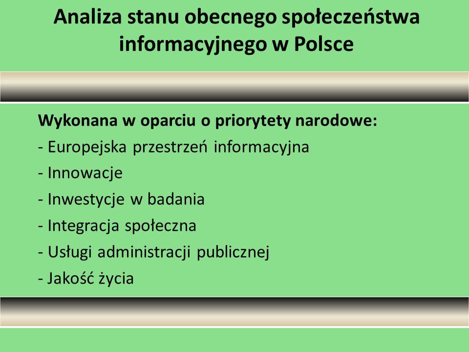 Analiza stanu obecnego społeczeństwa informacyjnego w Polsce