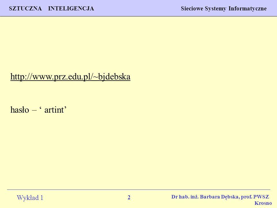http://www.prz.edu.pl/~bjdebska hasło – ' artint'