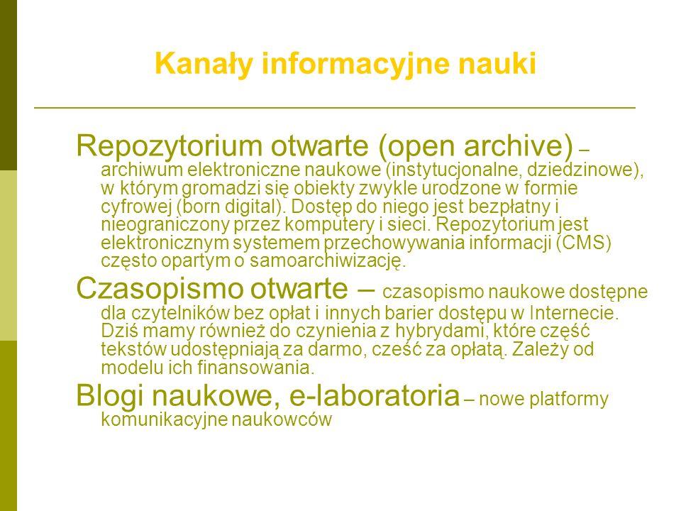 Kanały informacyjne nauki