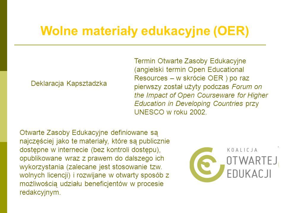 Wolne materiały edukacyjne (OER)
