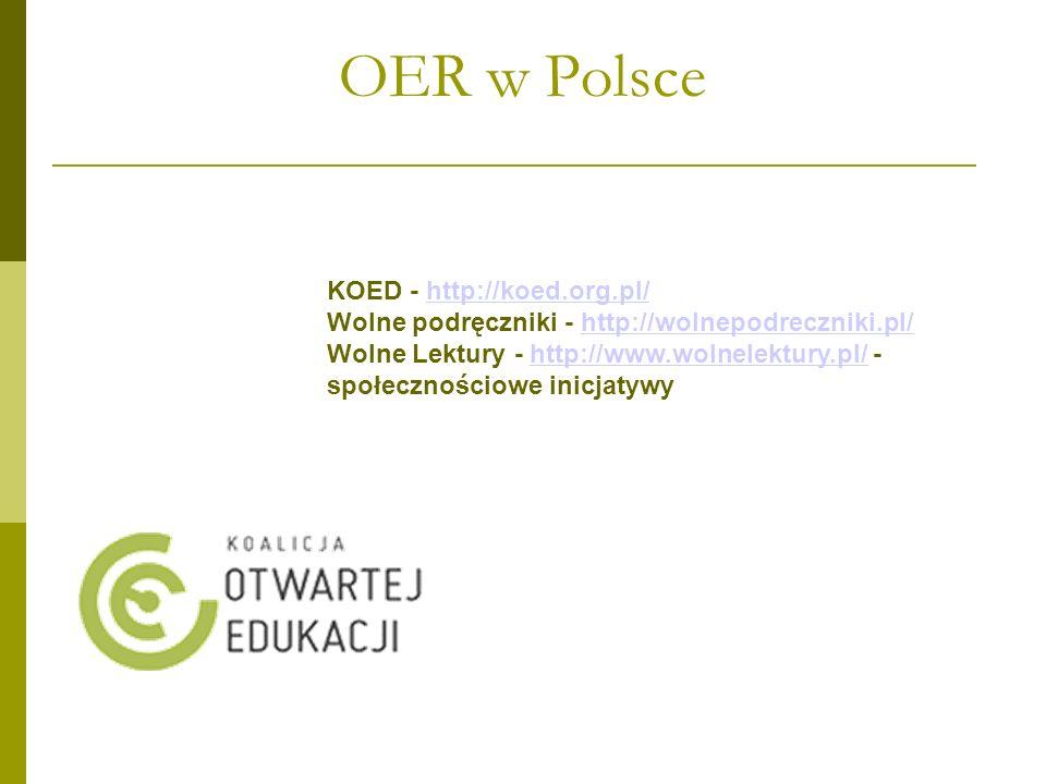OER w Polsce KOED - http://koed.org.pl/