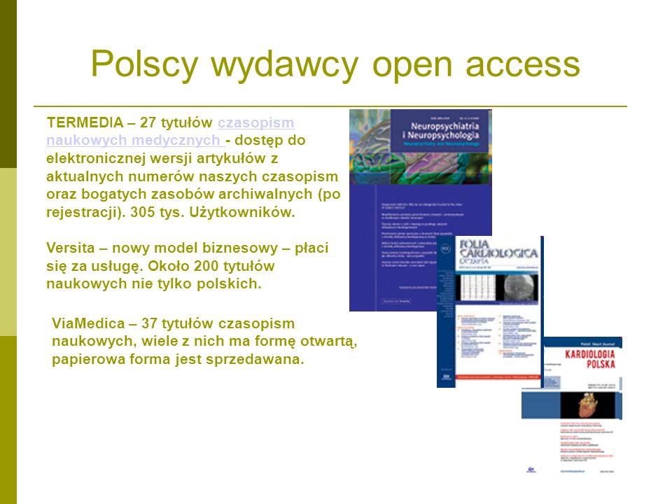 Polscy wydawcy open access