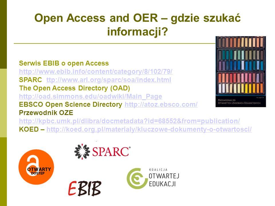 Open Access and OER – gdzie szukać informacji