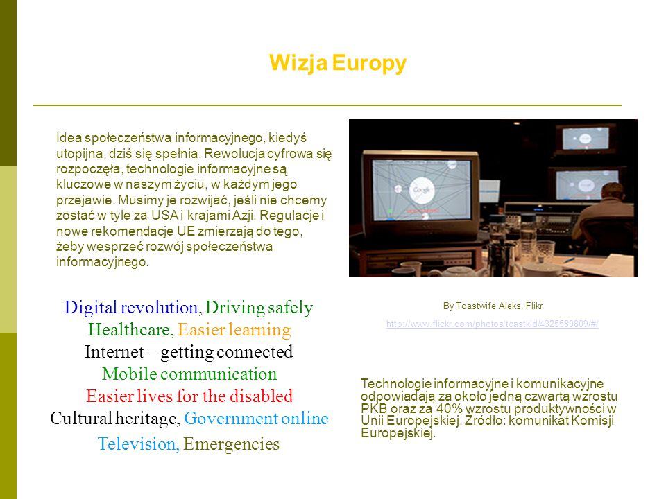 Wizja Europy Digital revolution, Driving safely