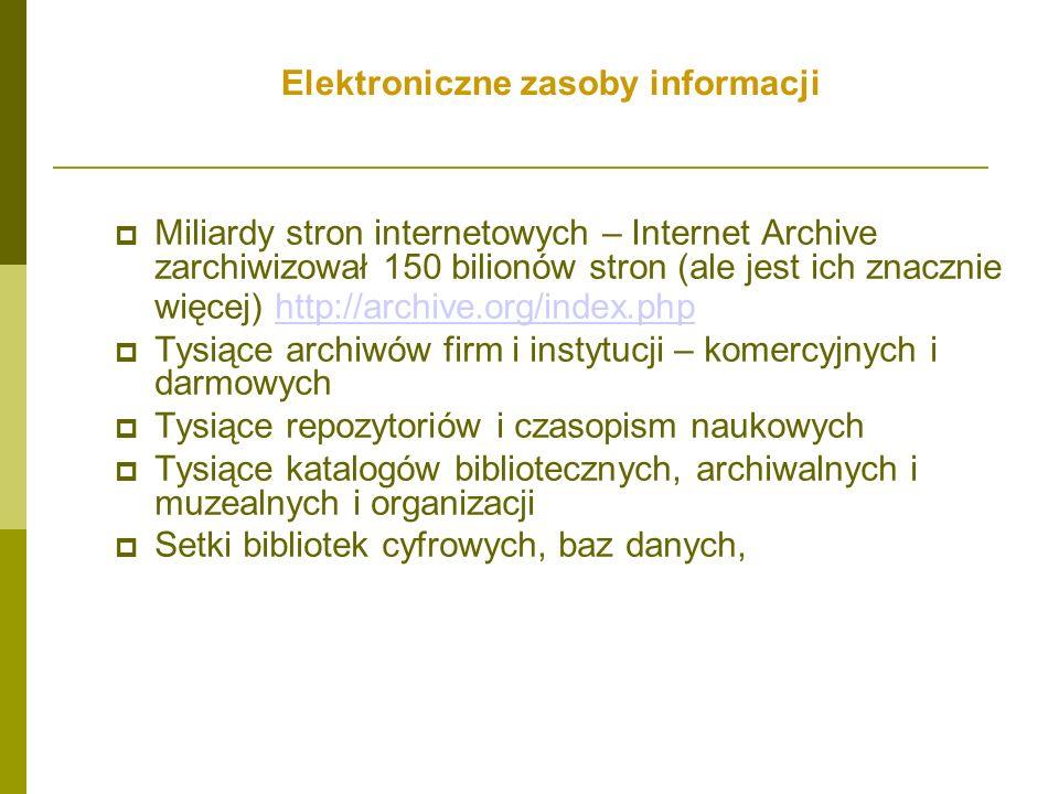 Elektroniczne zasoby informacji