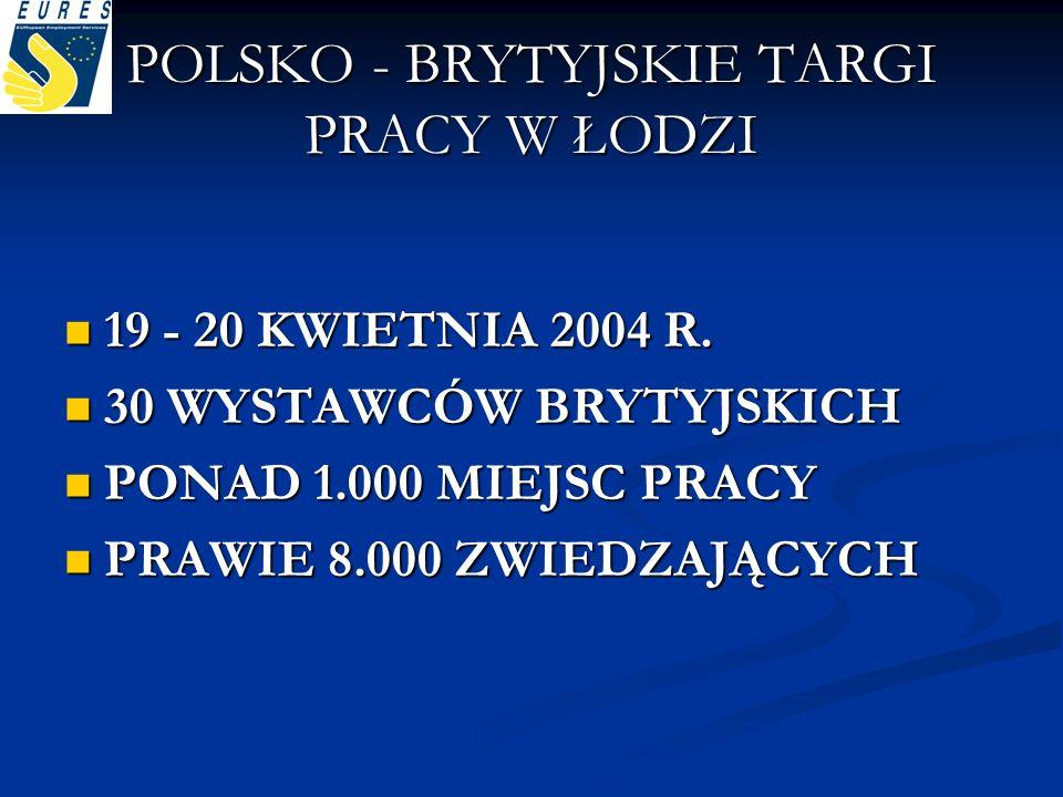 POLSKO - BRYTYJSKIE TARGI PRACY W ŁODZI