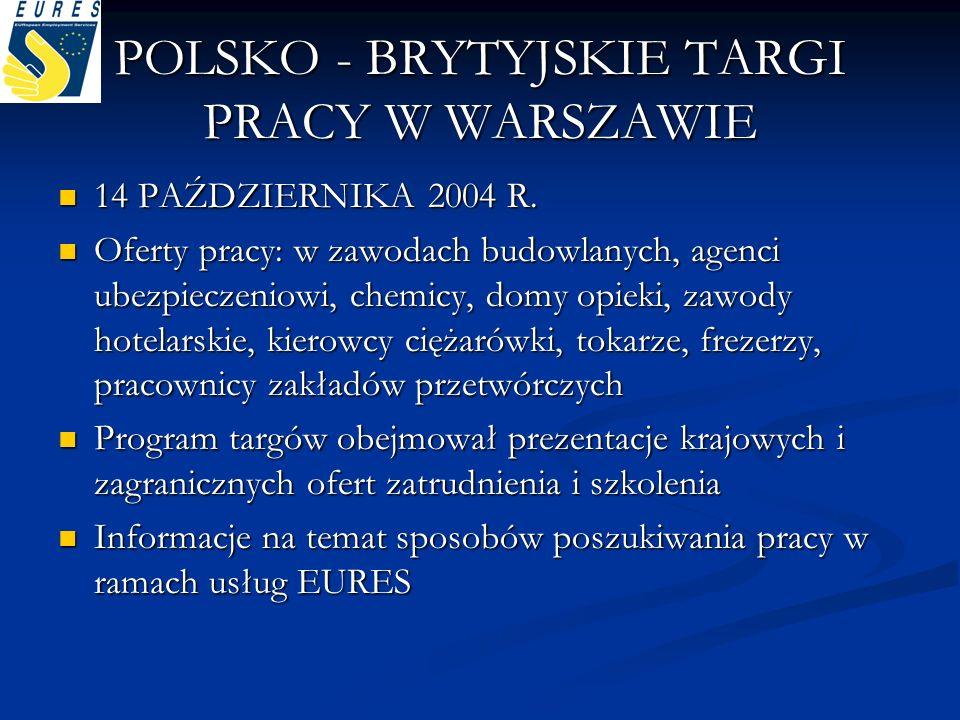 POLSKO - BRYTYJSKIE TARGI PRACY W WARSZAWIE