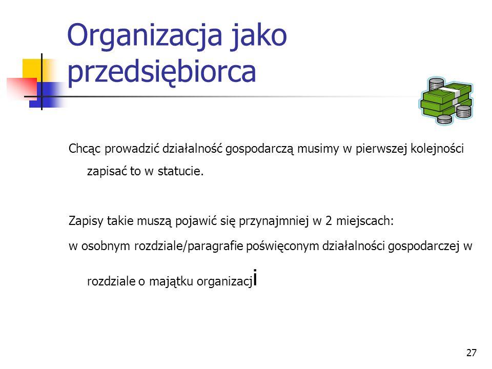 Organizacja jako przedsiębiorca