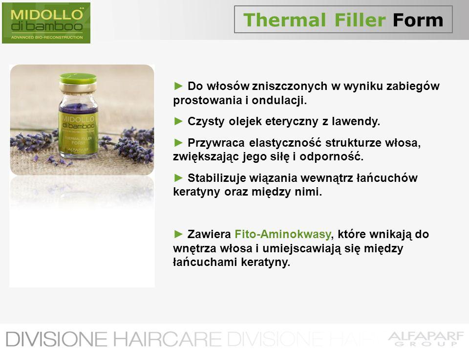 Thermal Filler Form► Do włosów zniszczonych w wyniku zabiegów prostowania i ondulacji. ► Czysty olejek eteryczny z lawendy.