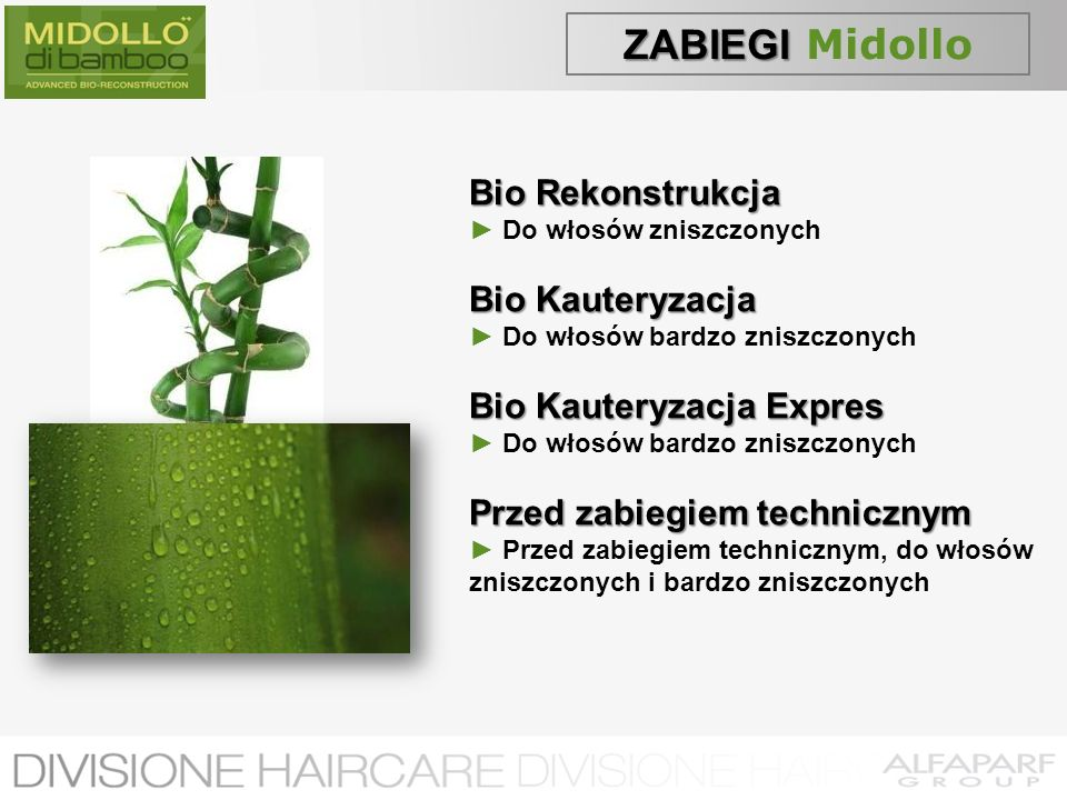 ZABIEGI Midollo Bio Rekonstrukcja Bio Kauteryzacja