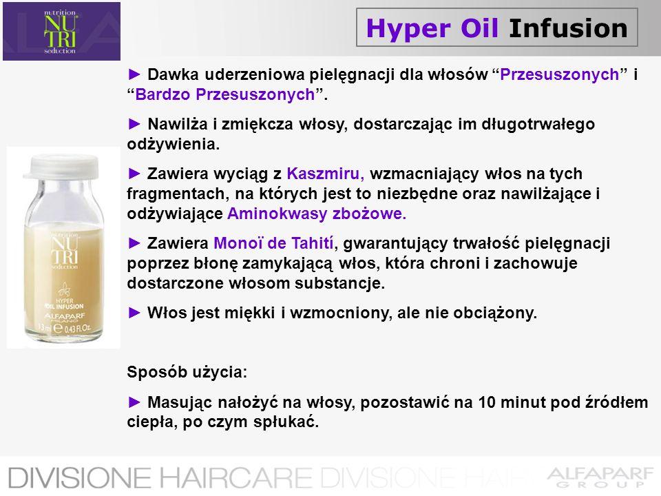 Hyper Oil Infusion► Dawka uderzeniowa pielęgnacji dla włosów Przesuszonych i Bardzo Przesuszonych .