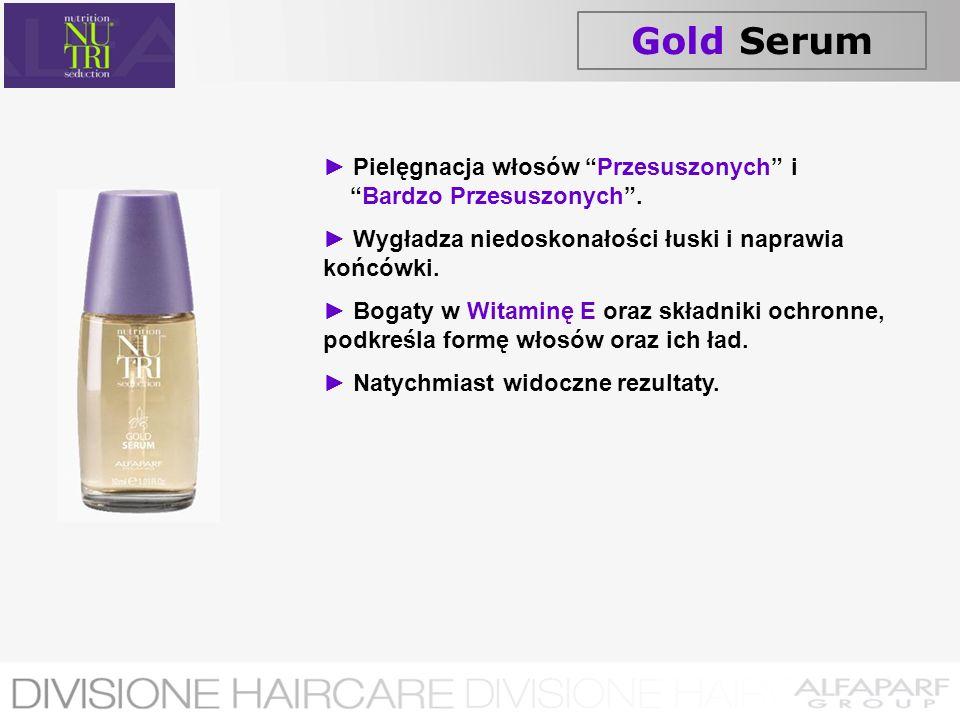 Gold Serum ► Pielęgnacja włosów Przesuszonych i Bardzo Przesuszonych . ► Wygładza niedoskonałości łuski i naprawia końcówki.