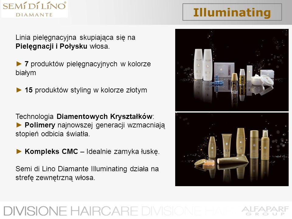 Illuminating Linia pielęgnacyjna skupiająca się na Pielęgnacji i Połysku włosa. ► 7 produktów pielęgnacyjnych w kolorze białym.
