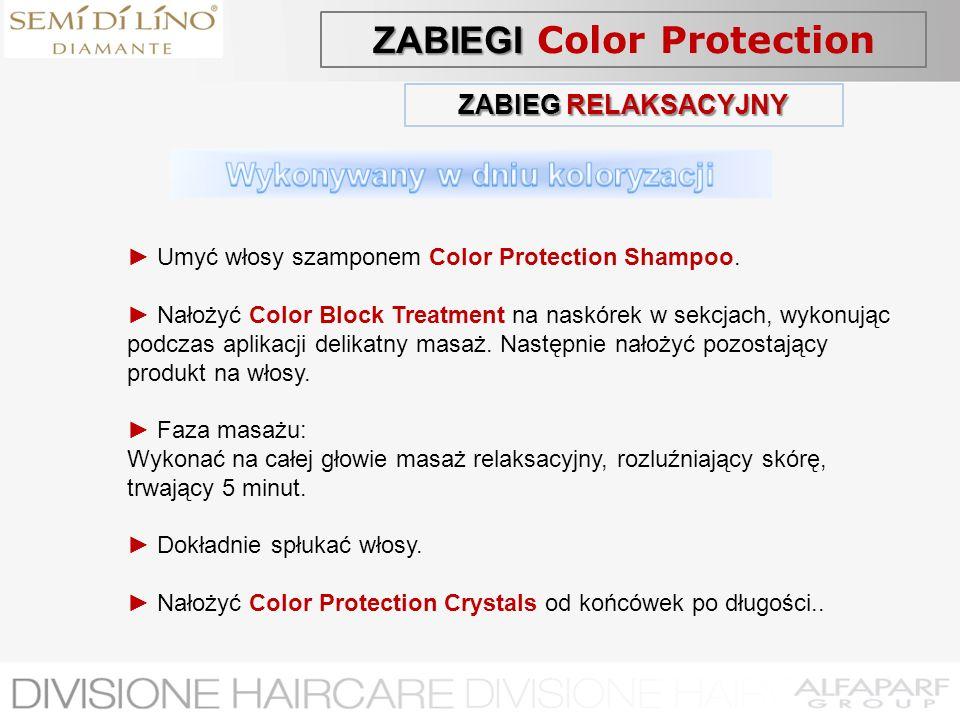 ZABIEGI Color Protection Wykonywany w dniu koloryzacji