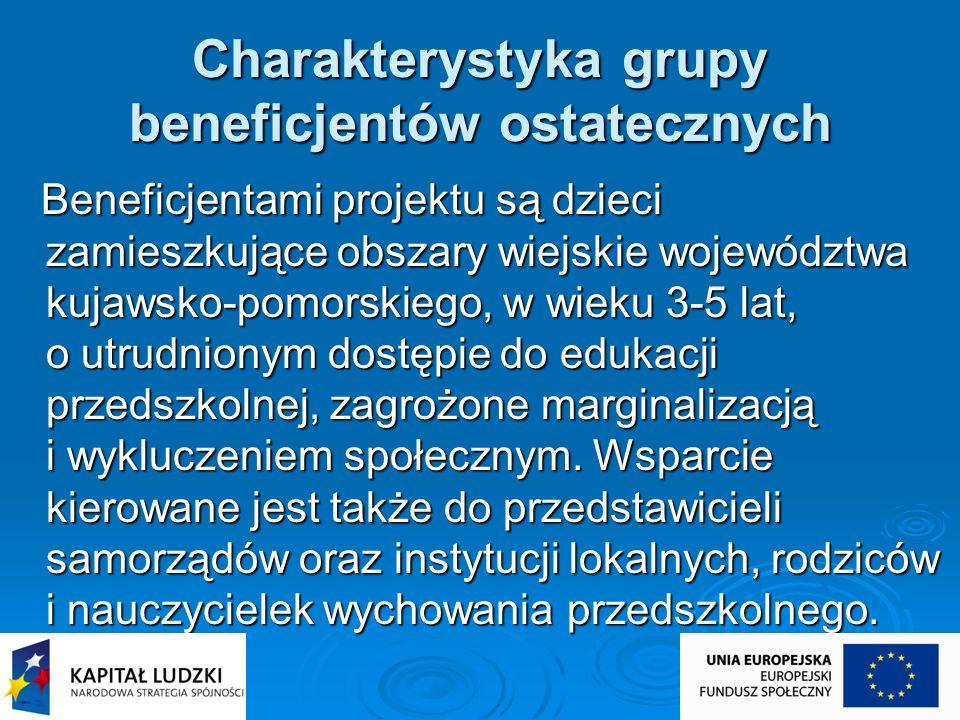 Charakterystyka grupy beneficjentów ostatecznych