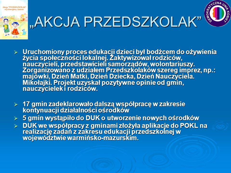 """""""AKCJA PRZEDSZKOLAK"""