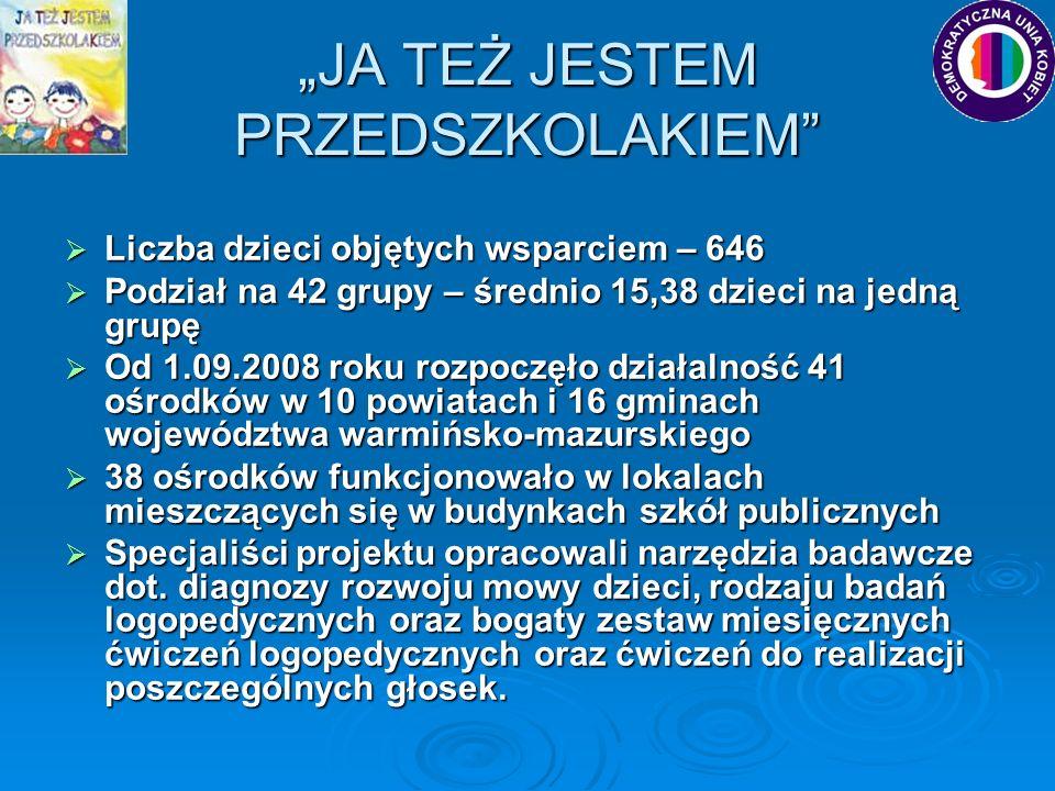 """""""JA TEŻ JESTEM PRZEDSZKOLAKIEM"""