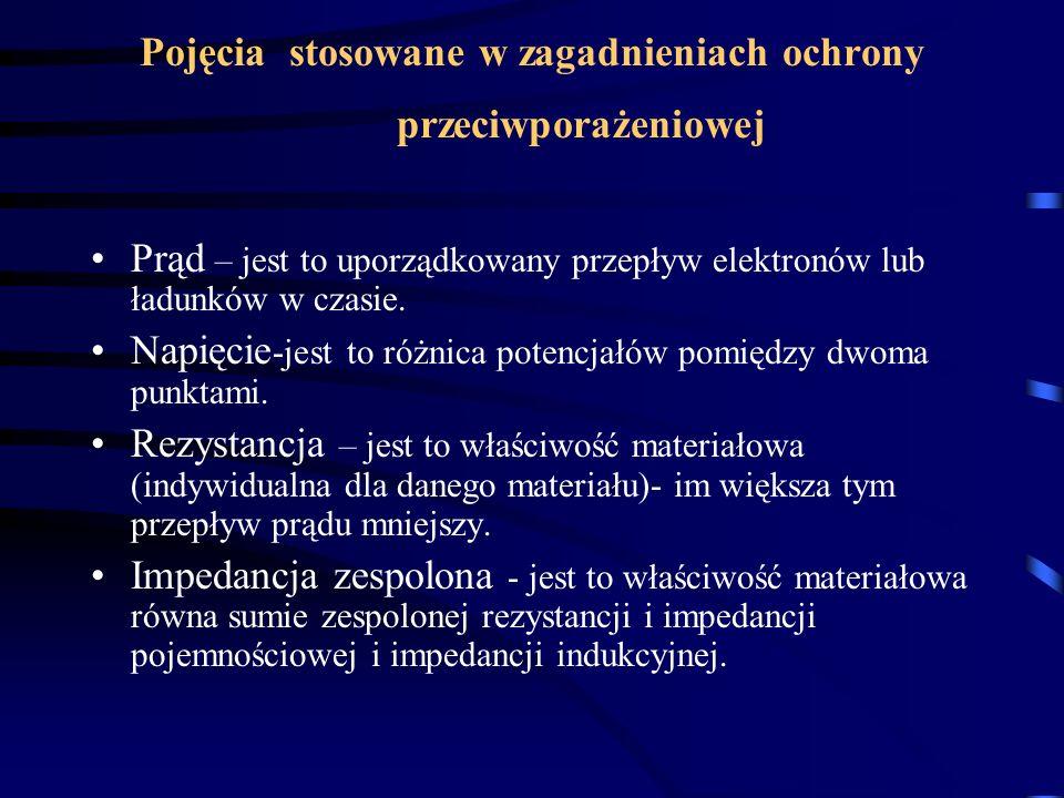 Pojęcia stosowane w zagadnieniach ochrony przeciwporażeniowej
