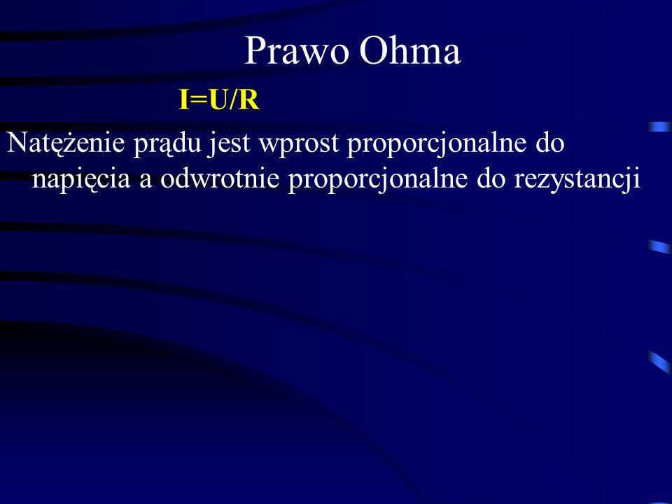 Prawo Ohma I=U/R.