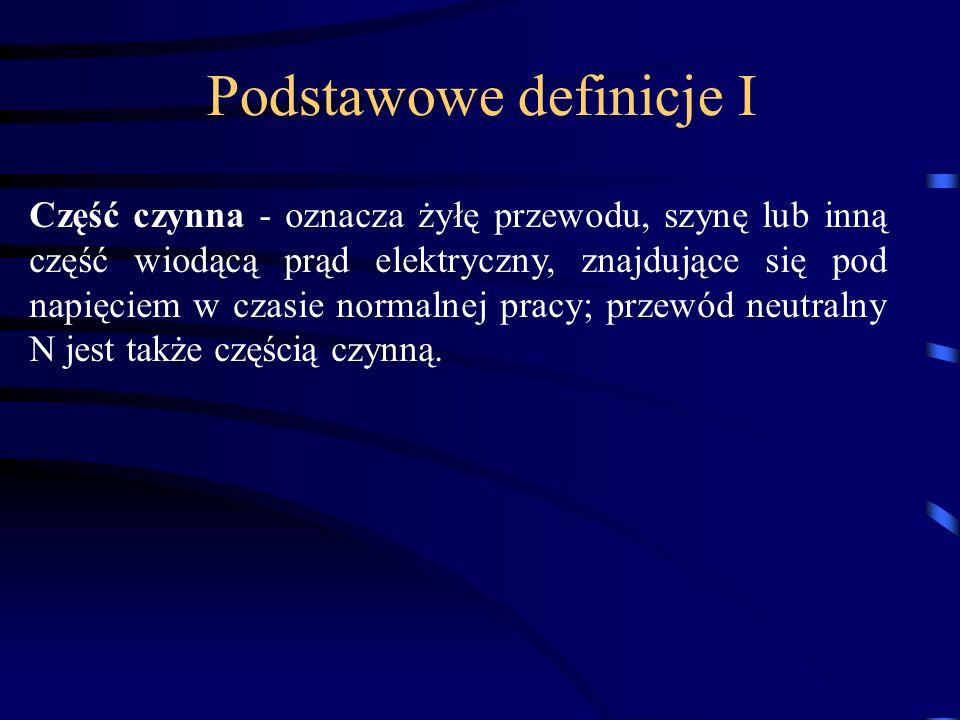 Podstawowe definicje I
