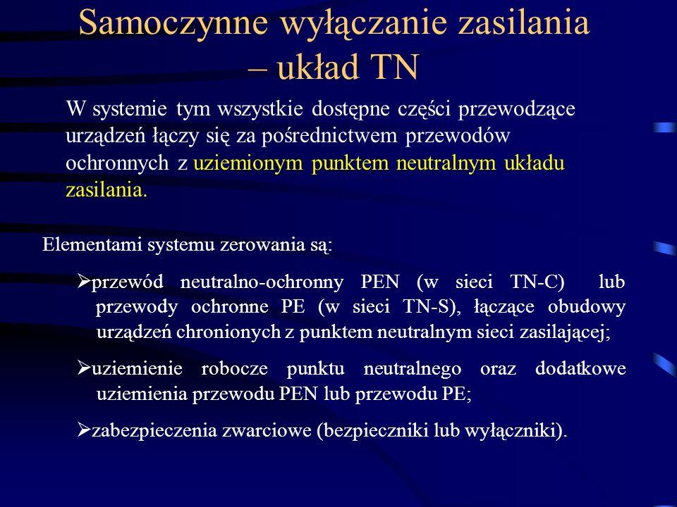 Samoczynne wyłączanie zasilania – układ TN