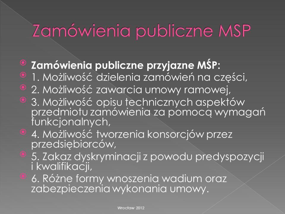 Zamówienia publiczne MSP