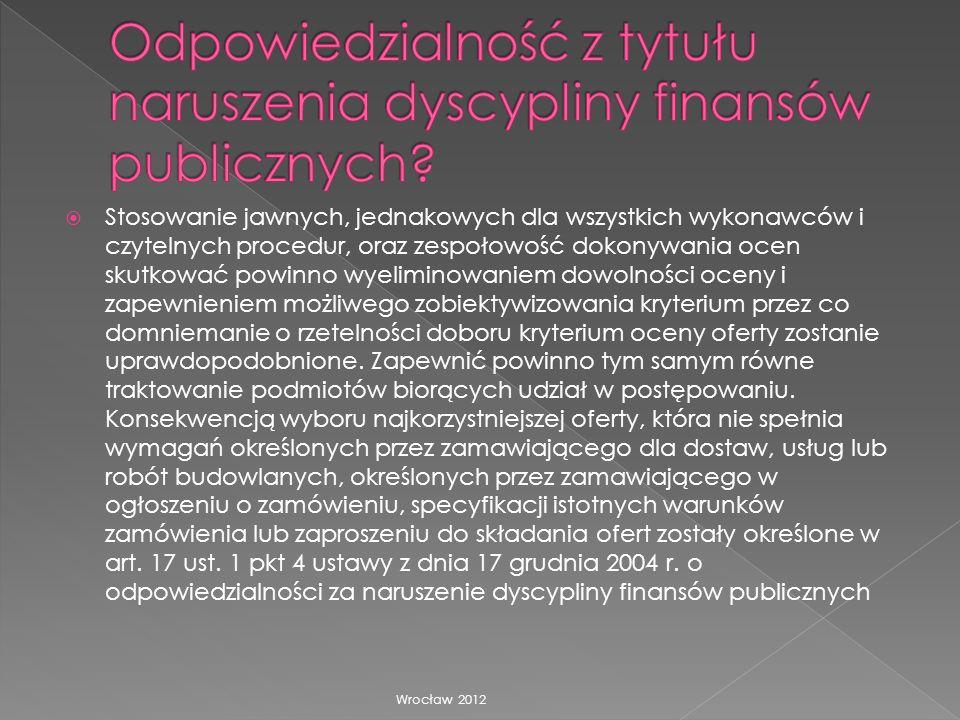 Odpowiedzialność z tytułu naruszenia dyscypliny finansów publicznych