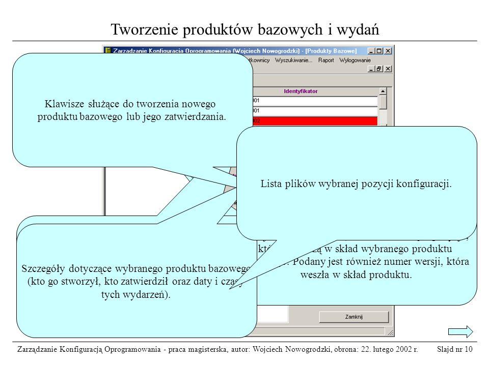 Tworzenie produktów bazowych i wydań