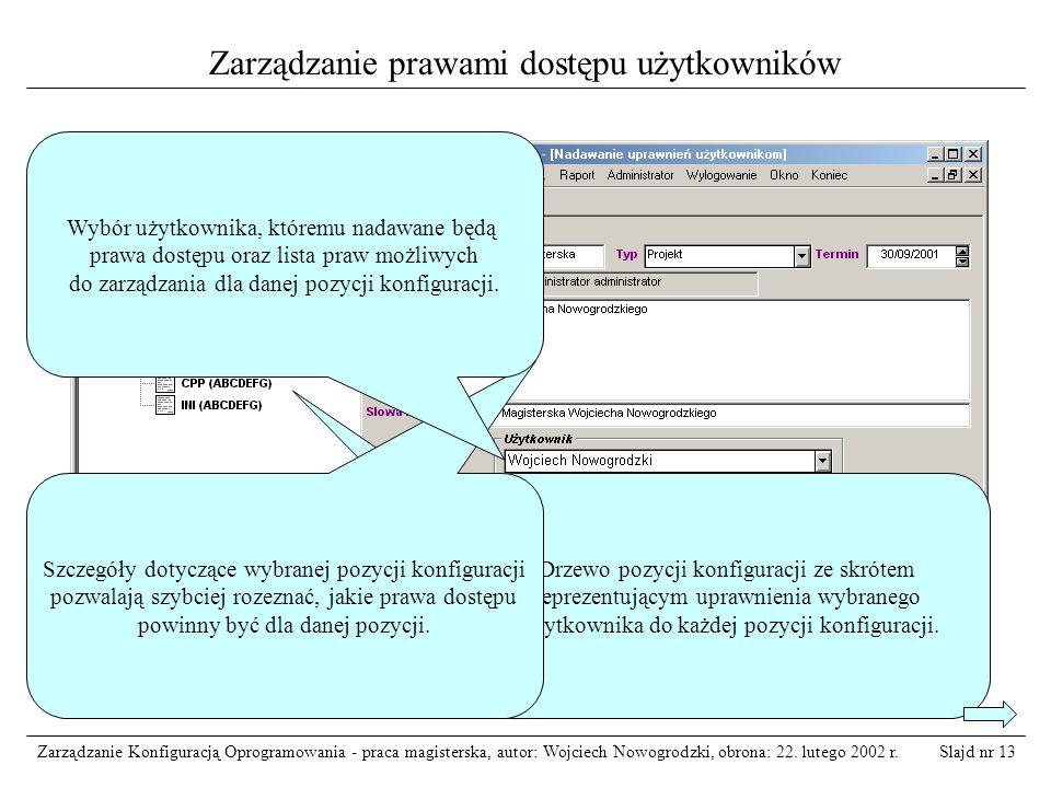 Zarządzanie prawami dostępu użytkowników
