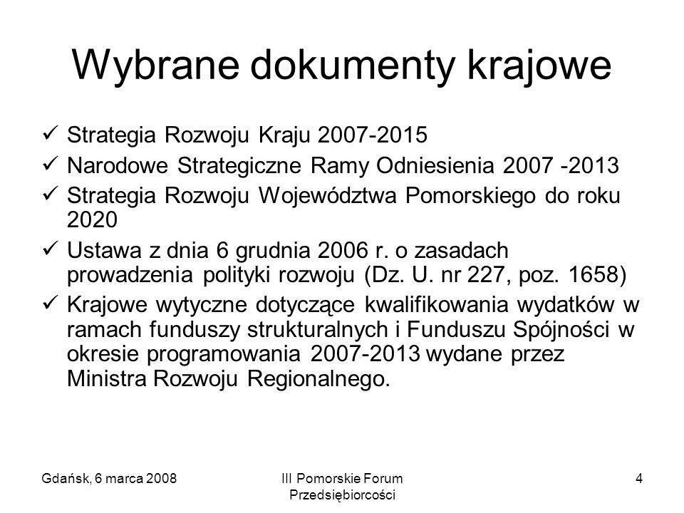 Wybrane dokumenty krajowe