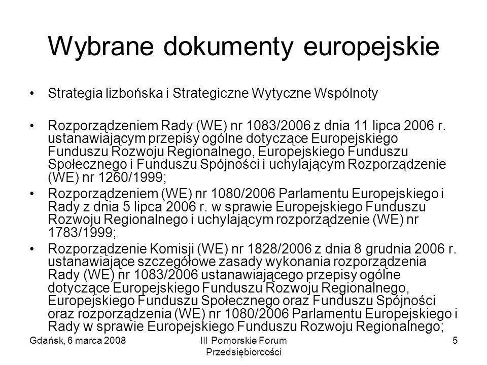 Wybrane dokumenty europejskie