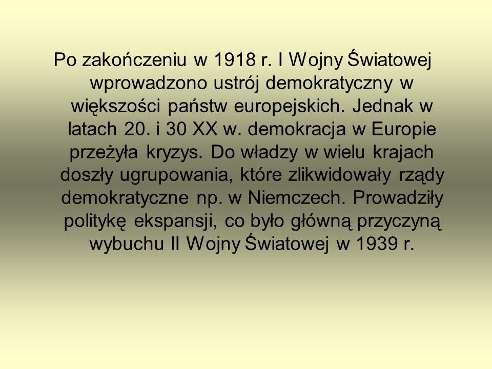 Po zakończeniu w 1918 r.