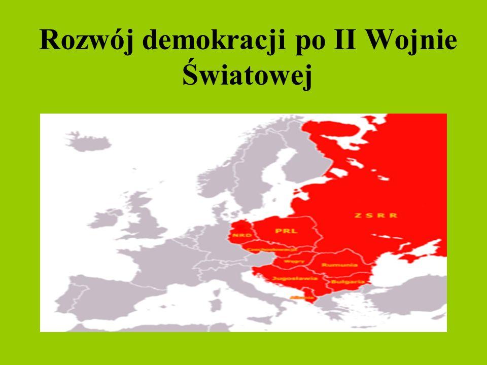 Rozwój demokracji po II Wojnie Światowej